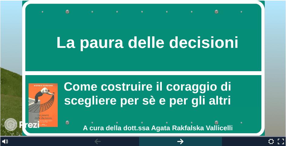 La paura delle decisioni - Agata Rakfalska